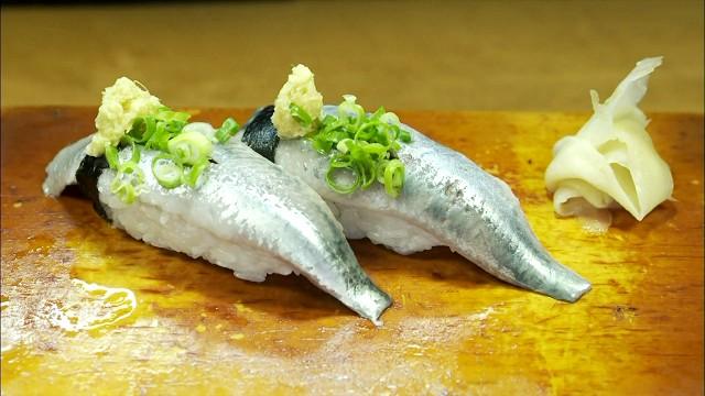 孤独のグルメ「だるまや」のいわしの握り寿司