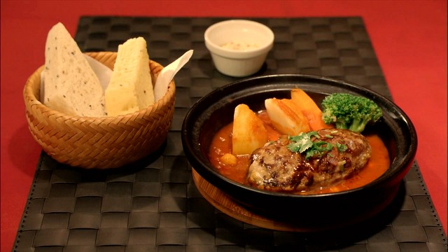 孤独のグルメ「tamtam」のラム肉のハンバーグ